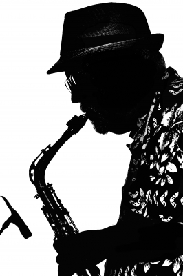 kev-sax-side-blow-bw